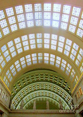 Photograph - Union Station Ceiling 1 by Randall Weidner