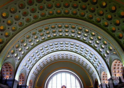 Photograph - Union Station Ceiling 2 by Randall Weidner