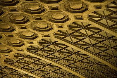 Photograph - Union Station Ceiling #3 by Stuart Litoff