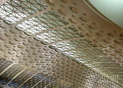 Photograph - Union Station Ceiling 4 by Randall Weidner