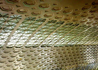 Photograph - Union Station Ceiling 5 by Randall Weidner