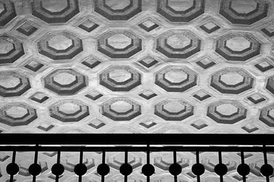 Photograph - Union Station Ceiling - Black And White #2 by Stuart Litoff