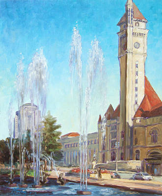 Union Station In St.louis Art Print