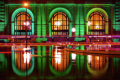 Photograph - Union Station Irish Reflections - Kansas City Missouri by Gregory Ballos