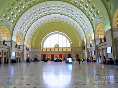 Digital Art - Union Station Lobby by Ed Weidman