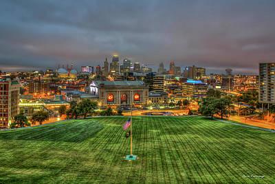 Photograph - Union Station Memorial View Kansas City Missouri Sunrise Art  by Reid Callaway