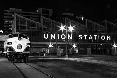 Union Station Night Glow Art Print