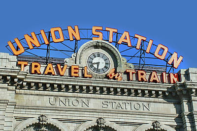 Photograph - Union Station Sign by Ken Smith