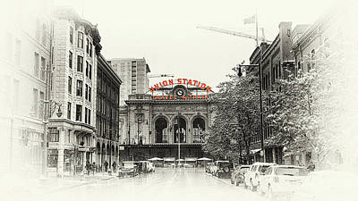 Art Print featuring the photograph Union Station  by Susan Rissi Tregoning