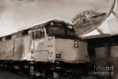 Art Print featuring the digital art Union Station Train by Dwayne Glapion