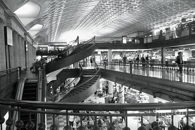 Photograph - Union Station Washington Dc  Bw by Margie Avellino