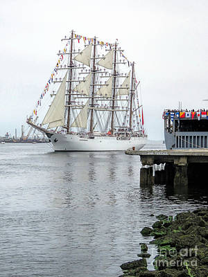 Photograph - Union Tall Ship  by Janice Drew