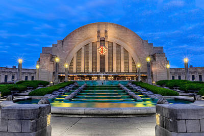Union Terminal At Sunrise II Art Print by Keith Allen