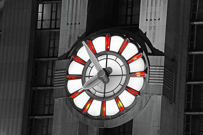 Union Terminal Clock Art Print by Russell Todd