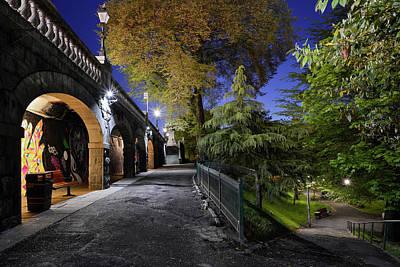 Photograph - Union Terrace Gardens At Night by Veli Bariskan