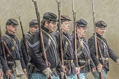 Battle Of Gettysburg Digital Art - Union Veteran Soldiers Parade  by Randy Steele