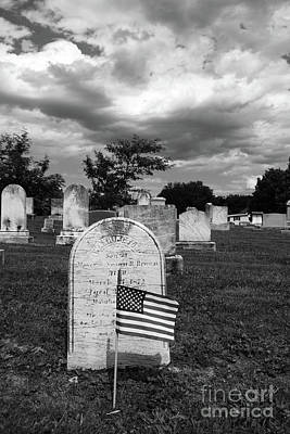 Photograph - Uniontown Cemetery Maryland In Black And White by James Brunker