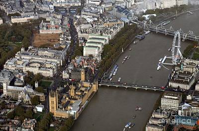 Photograph - Unique And Rare Aerial View Of Iconic City Of London by Akshay Thaker-PhotOvation
