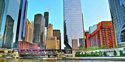 Photograph - Unique Chicago Panoramic by Frozen in Time Fine Art Photography