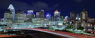 Photograph - Unique Cincinnati Panoramic by Frozen in Time Fine Art Photography