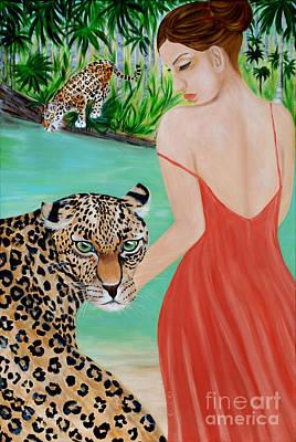 Painting - Unique Friendship. Original Art by Oksana Semenchenko