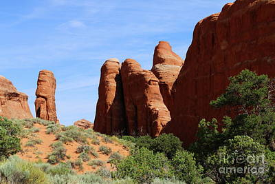 Photograph - Unique Rockformation - Arches National Park by Christiane Schulze Art And Photography
