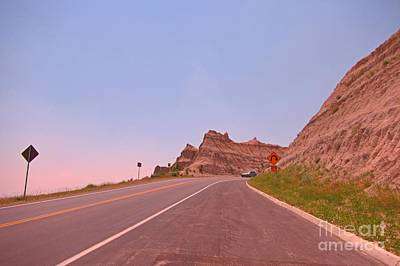 State Of South Dakota Painting - Unique Scenic Drive In The Badlands Of South Dakota by John Malone