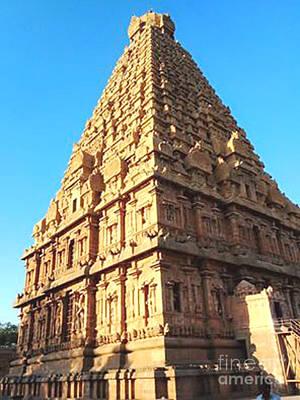 Photograph - Unique Temple Tower by Ragunath Venkatraman