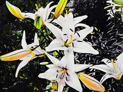 Lilies Mixed Media - Uniquely Divine by Debra Lynch