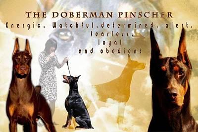 Doberman Pinscher Pop Art Photograph - Uniquness In The Doberman by Maria C Martinez