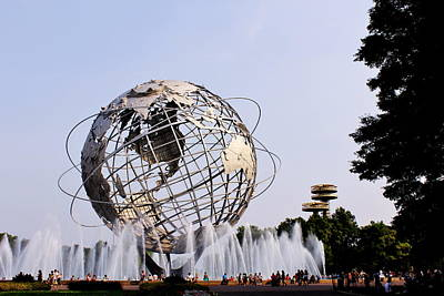 Unisphere Fountain Art Print by Karen Silvestri