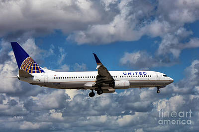 United Airlines Boeing 737 Ng Art Print
