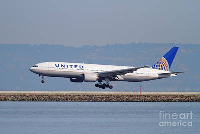United Airlines Jet Airplane . 7d11794 Art Print