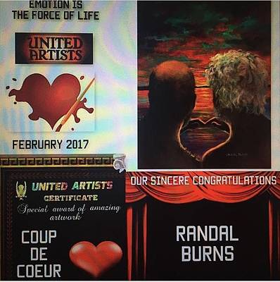 Painting - United Artists Certificate by Randy Burns