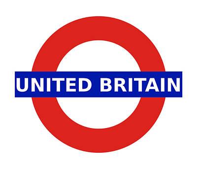 Digital Art - United Britain - Roundel by Richard Reeve