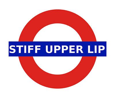 Digital Art - United Britain - Stiff Upper Lip by Richard Reeve