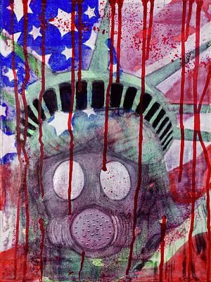 Terrorism Mixed Media - United In Terror by Kim O'Brien