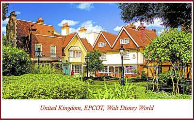 United Kingdom Buildings, Epcot, Walt Disney World Art Print
