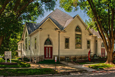 Photograph - United Methodist Church by Edward Peterson