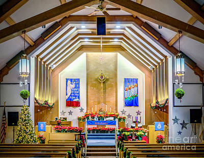 Photograph - United Methodist Church Of Mantua Christmas 2016 by Nick Zelinsky