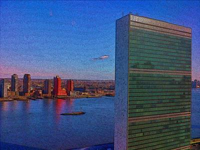 Photograph - United Nations Secretariat by Steven Richman