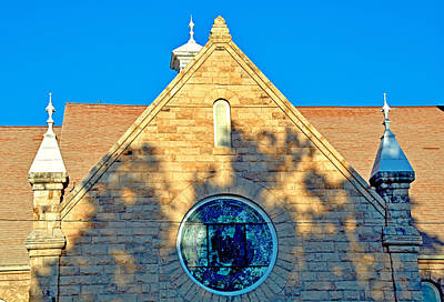 Photograph - United Presbyterian Church Study 3 by Robert Meyers-Lussier