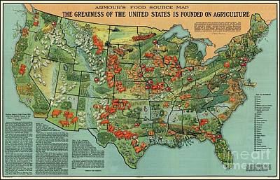 Painting - United States Agriculture by Pg Reproductions