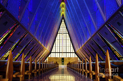 Photograph - United States Air Force Academy Cadet Chapel 2 by Bob Christopher