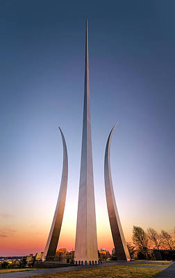 Photograph - United States Air Force Memorial by Ryan Wyckoff