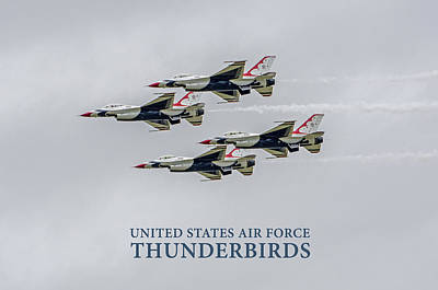 Photograph - United States Air Force Thunderbirds   04 by Susan  McMenamin