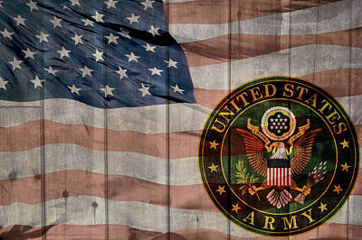 United States Army Logo Barn Door Art Print by Dan Sproul