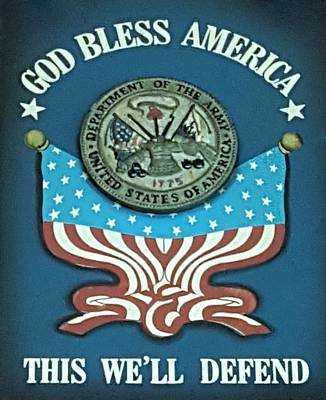 United States Army Art Print by Rob Hans