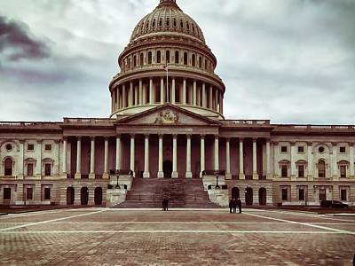 Photograph - United States Capitol Building by Chris Montcalmo