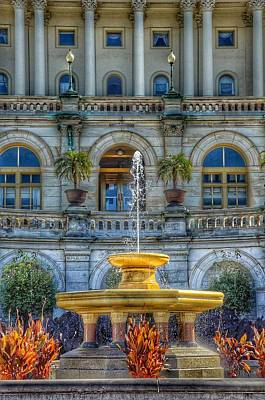 Photograph - United States Capitol Building - Water Fountain  by Marianna Mills